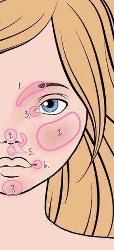 Amor articulado: Contorno básico para Faceups                              …