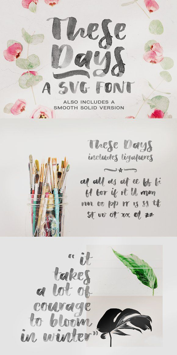 These Days Svg Font By Ana S Fonts On Creativemarket These Days