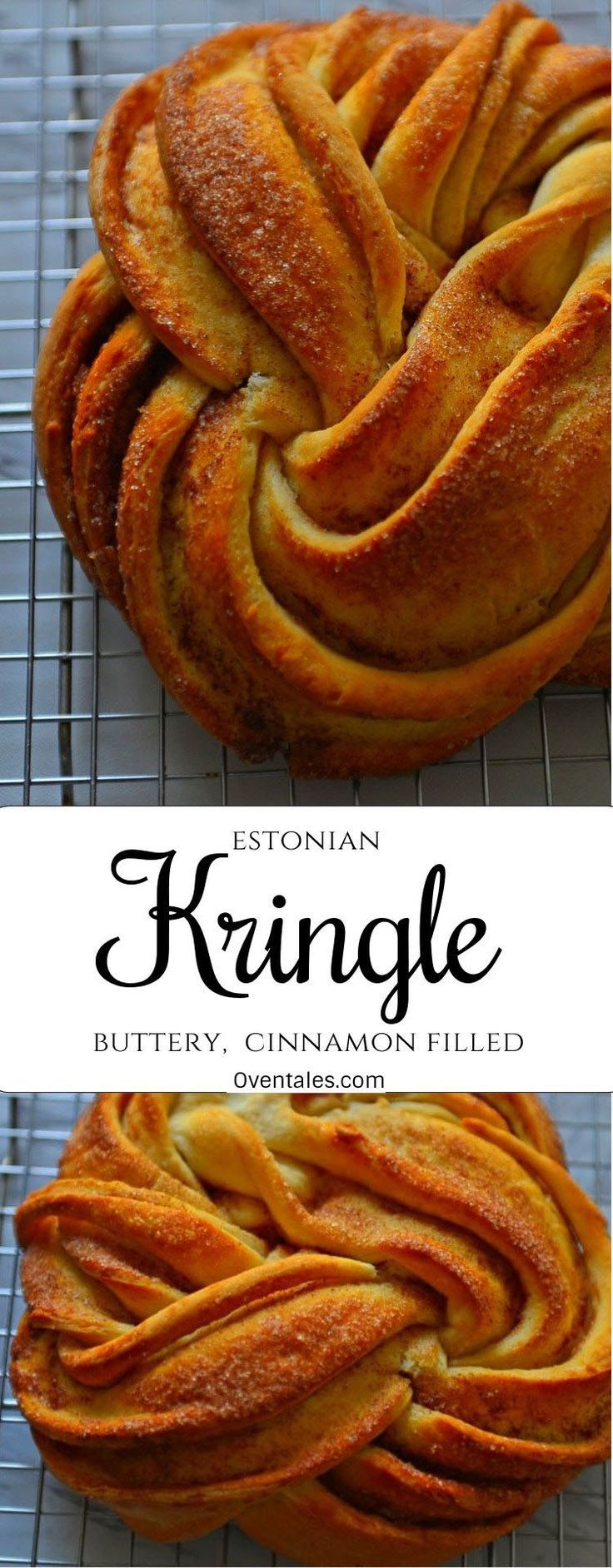 Estonian Kringle. A braided cinnamon roll rosette. It has a crunchy crust and soft buttery crumb. #breadrecipes #holidayrecipes #baking #russian #russianbraid