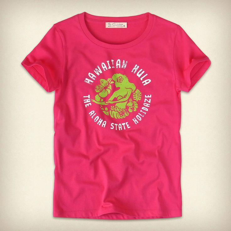 ハワイアンフラTシャツ - HOLIDAZE(ホリデイズ) HAWAIIAN HULA レディース - デザインTシャツのホリゾンブルー   Horizon Blue