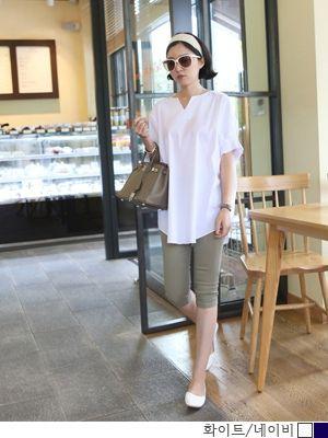 korean fashion online store [COCOBLACK] Wrinkles bl Times / Size : FREE / Price : 40.84 USD #blouse #korea #tops #fashion #loosefitblouse #loosefit #missylook #koreafashion #missy #longT