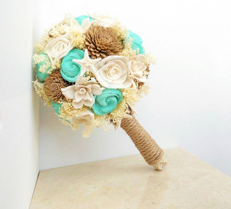 Beach Wedding Bouquet, Starfish Bouquet, Beach Wedding by ShoreItUp on Etsy https://www.etsy.com/listing/206433847/beach-wedding-bouquet-starfish-bouquet