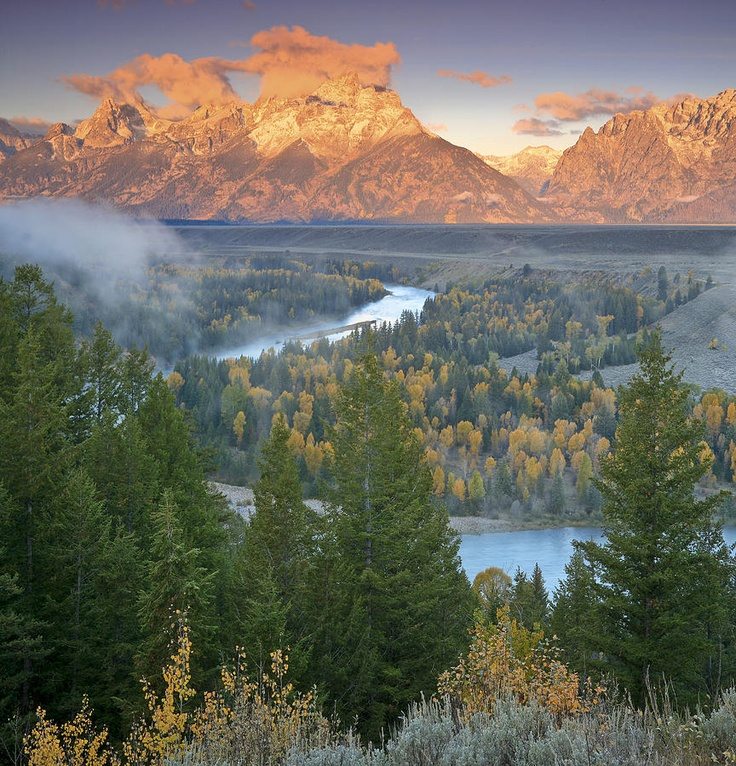 ✭ Early morning on the Snake River, Wyoming