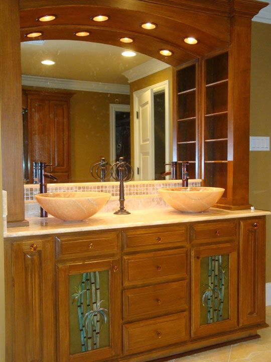 bamboo cabinets bathroom 1000 images about designer glass mosaics on 10897