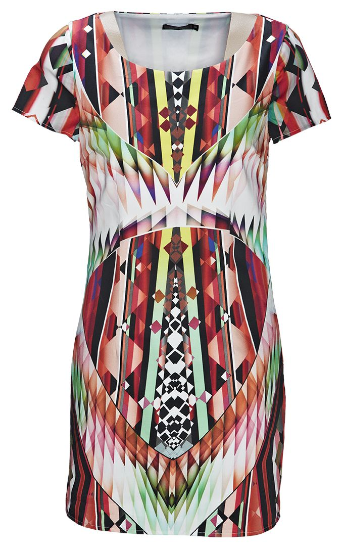 Dress from Portmans. #kaleidoscope is trending at Westfield New Zealand. Follow us on Pinterest, repin your favourite item and go in the draw to win* a Westfield Gift Card. Terms and conditions apply.