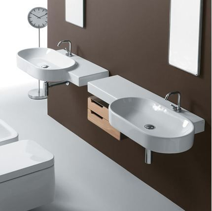 Picture of Simas - Flow wall hung washbasin 113