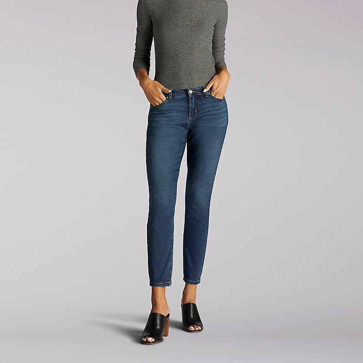Lee Women's Modern Series Anna Skinny Ankle Jeans (Size 12 Slim)