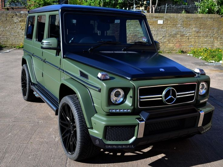 This #Mercedes G63AMG looks ready for battle wrapped in Matte Military Green!