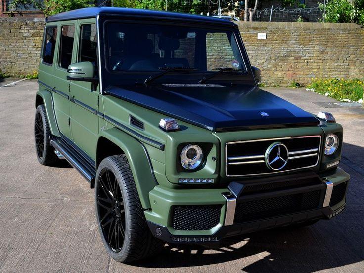 G63 AMG Matte Military Green Car Wrap | ReformaUK