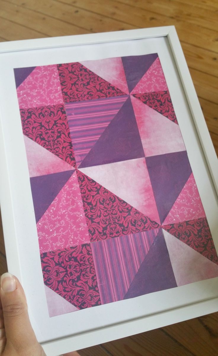 Easy Patterned Triangle Art - quick & easy craft to brighten up your wall