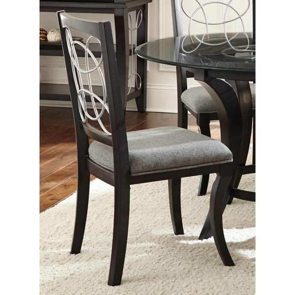 Greyson Living Calypso Black Charcoal Grey Upholstered Side Chairs Set Of 4 Room ChairsSide ChairsDining