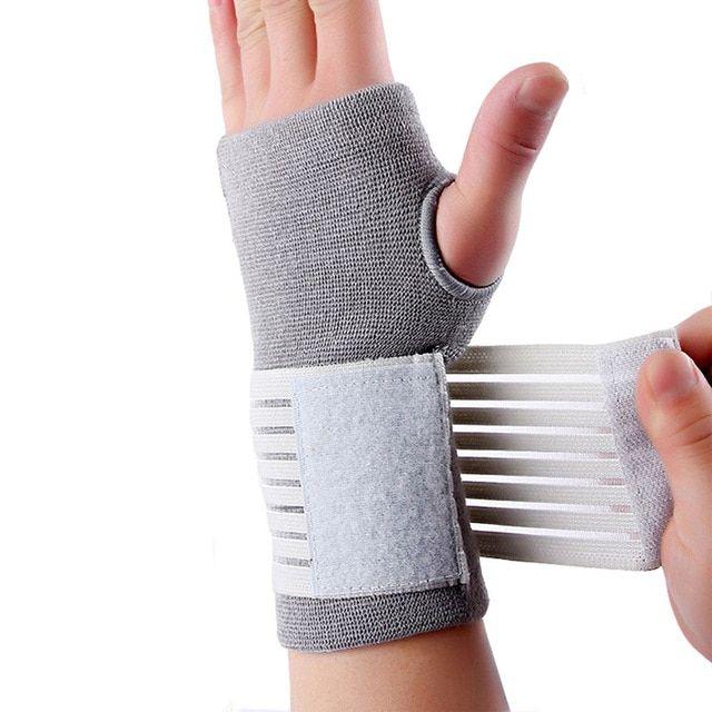 Palm Wrist Hand Support Glove Elastic Brace Sleeve Sports Bandage Gym Wrap NB