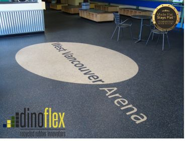Hit the Ice, and our floors hard! Our Dinoflex Sport Mat Flooring offers natural resilience that can hold up to heavy wear and tear even in the toughest conditions. The West Vancouver Arena used our sport mat to withstand the high amount of traffic flow. #Dinoflex #SportMat #WestVancouverArena #Vancouver #BritishColumbia #MadeFlatStaysFlat #UniquelyDifferent