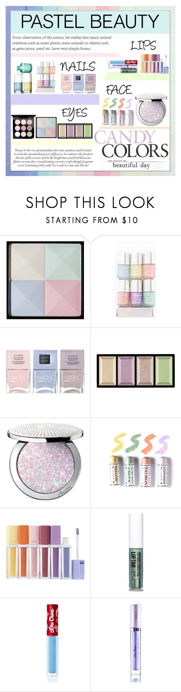 """""""Pastel Makeup"""" by lady-madhatter ❤ liked on Polyvore featuring beauty, Joe Fresh, Givenchy, Nails Inc., Clé de Peau Beauté, Guerlain, Sephora Collection, Obsessive Compulsive Cosmetics, Lime Crime and MAC Cosmetics"""