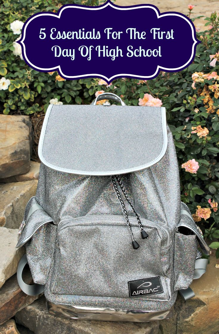 Five Must Haves For The First Day Of High School & Glitter Bling Bag Backpack Giveaway.  Ends 8/13/2014
