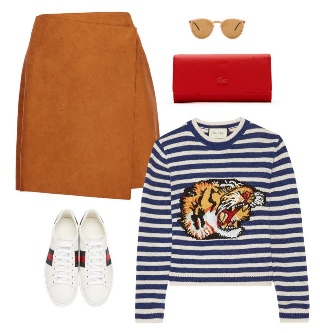 """""""Bez tytułu #23"""" by sheere on Polyvore featuring moda, Oliver Peoples, MSGM, Gucci i Lacoste"""