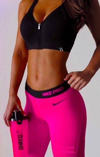New Nike workout clothes | Sport bras | Tank Tops | Tights | Capris | Leggings | Workout shorts | Gym Clothes | Running clothes @ http://www.FitnessGirlApparel.com