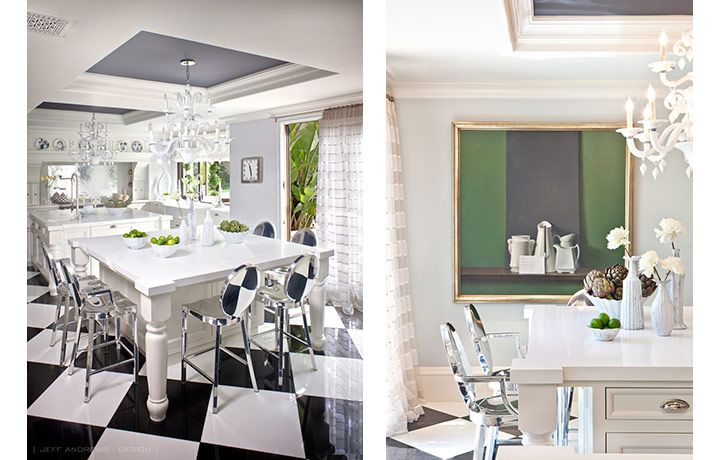 LOVE the Jenner Kitchen (especially the bar stools) designed by JEFF ANDREWS