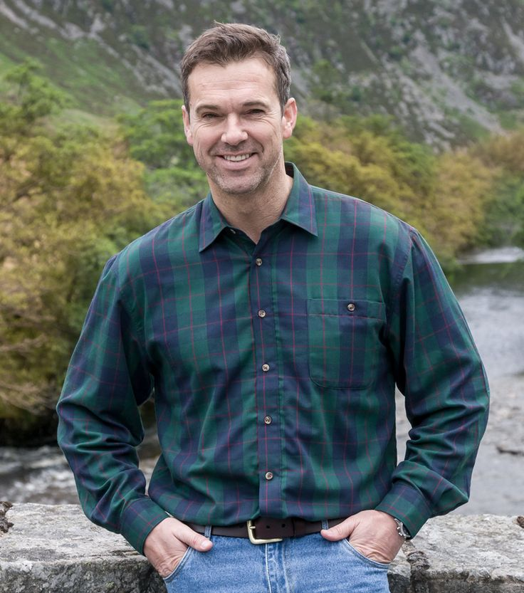 Strathearn Jersey Lined Shirt by Hoggs of Fife | Casual Shirts for Men from Fife Country