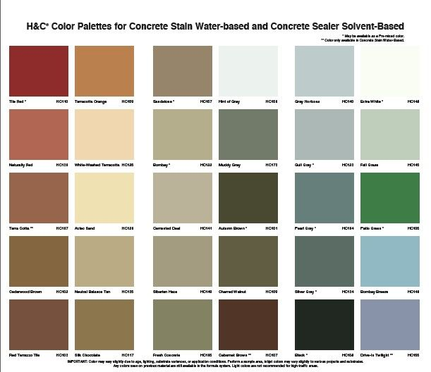 13 Best Water Based Concrete Stain Color Charts Images On Pinterest Concrete Stain Colors