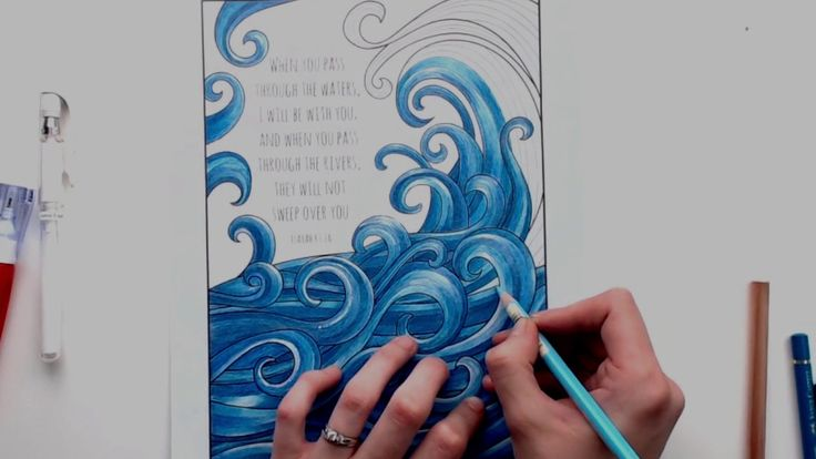 Coloring Tutorial: Adding white highlights using a white gel pen