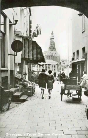 Koude gat ...Vismarkt  Groningen 1963