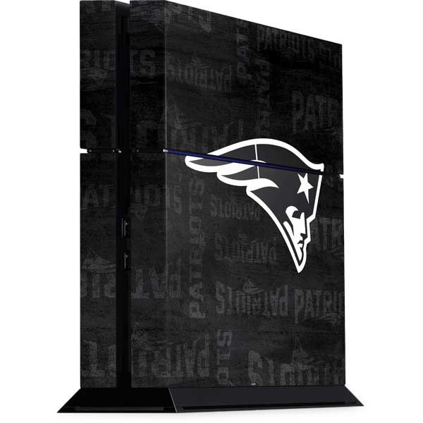 New England Patriots Black & White Playstation 4 PS4 Console Skin by www.skinit.com $29.99