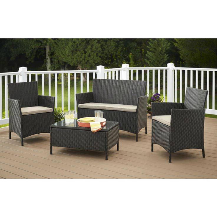 Pacific 6 Seater Patio Furniture Set conversation sets youll love wayfair w