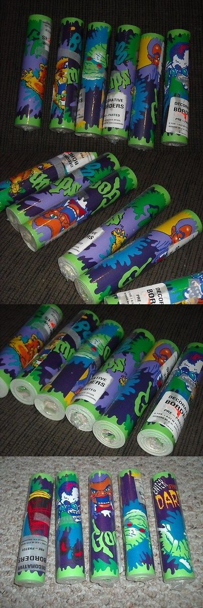 Bedroom Playroom and Dorm D cor 115970: Set Of 10 Rolls Nwt Goosebumps By R. L. Stine Wallpaper Wall Border -> BUY IT NOW ONLY: $55.99 on eBay!
