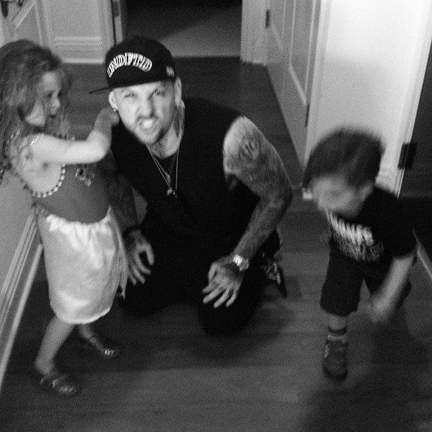 """Pin for Later: Proof That Nicole Richie and Joel Madden Have the Cutest Family  """"Uncle Benj and the kids. Happy Labor day"""""""
