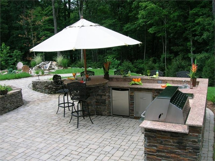 53 best Outdoor kitchens images on Pinterest | Outdoor spaces ...