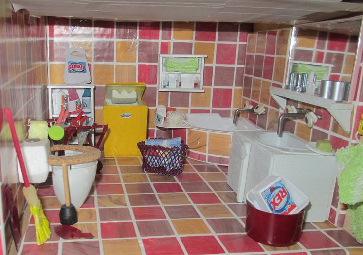 My dollhouse - with new corner bath