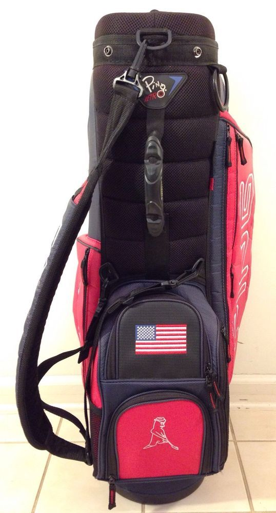 PING RETRO Carry Cart Red/White/Blue Golf Bag #Ping