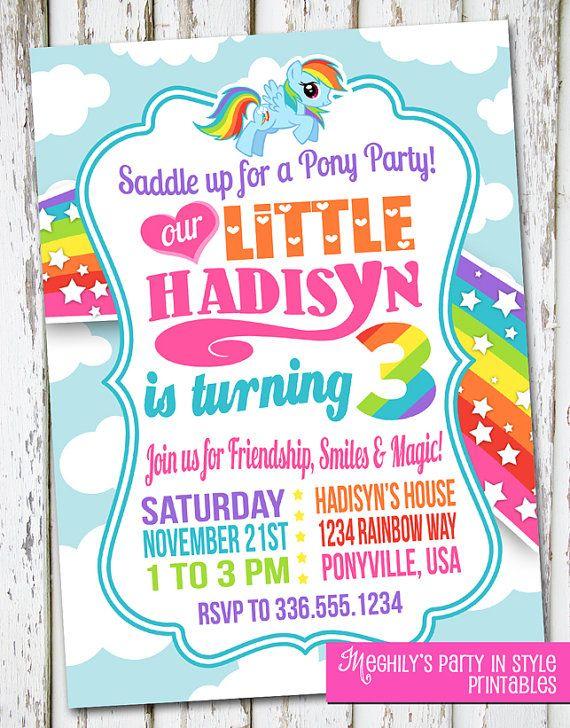 The 25 best My little pony invitations ideas on Pinterest