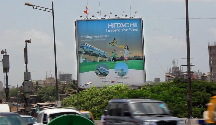 Living better...   Billboard in Mumbai