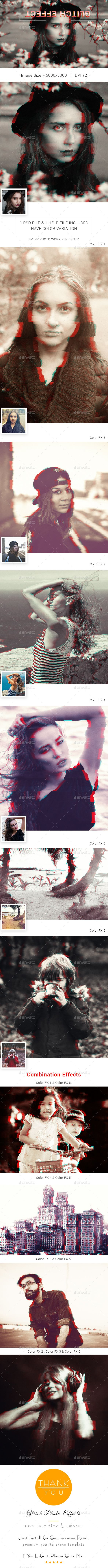 Glitch Photo Effects by FabioDesign_Lab Glitch Photo Effects Features: This template will convert your photo into glitched and VHS-looking artwork in few simple clicks