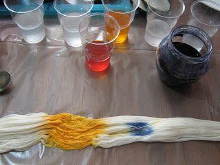Fager färg: En liten kurs i garnfärgning - 1. del