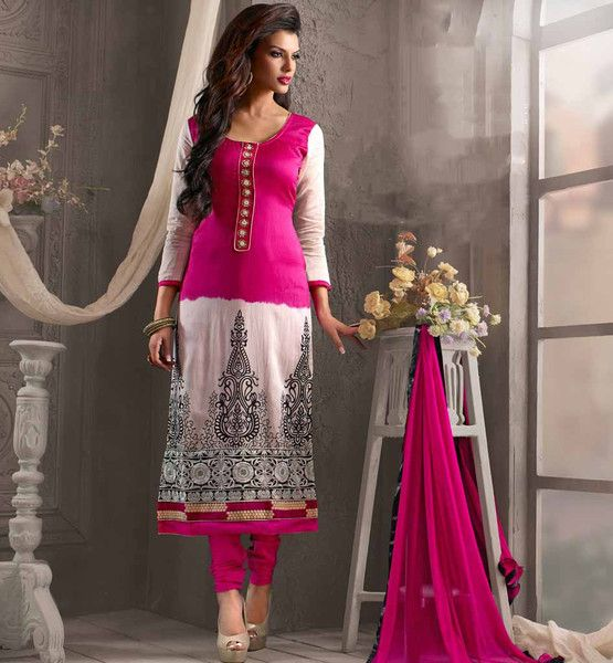 LATEST FLAT SHAPE GOOD LOOKING INDIAN PUNJABI SALWAR KAMEEZ DUPATTA SUIT FOR ELEGANT & EVERSTYLISH WOMAN design Neckline, floral painting & beautiful embroidery