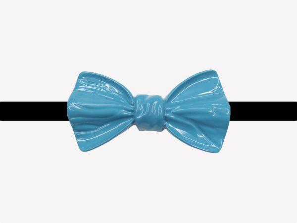 Acquista Ora l'ultima novità degli accessori per abbigliamento, il Papillon da camicia colore verde acqua lucido tinta unita Posh!