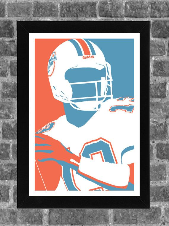 Awesome Dan Marino abstract https://www.etsy.com/listing/188899296/miami-dolphins-dan-marino-portrait