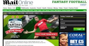 Daily Mail Fantasy Football sign in