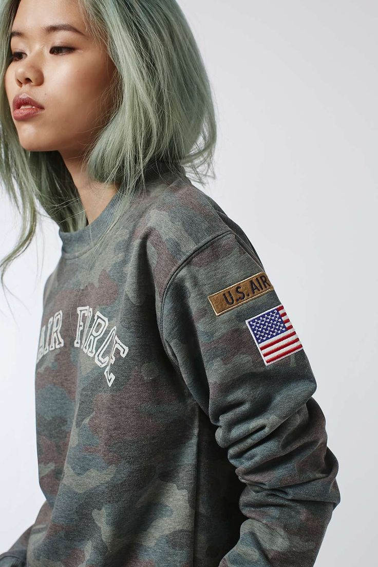 US Army Camo Sweat by Tee and Cake - Clothing- Topshop