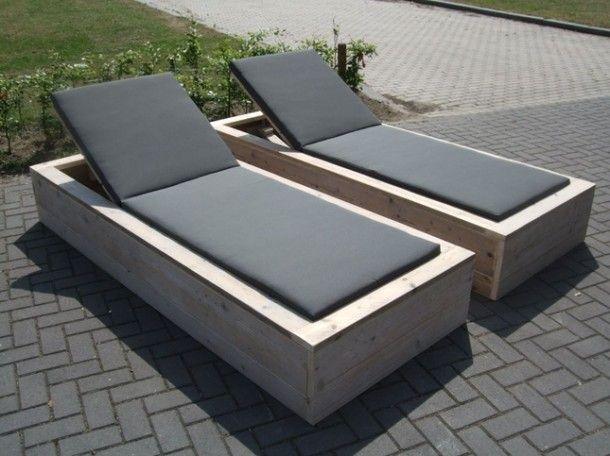 Mooie lounge tuinstoelen van steigerhout!