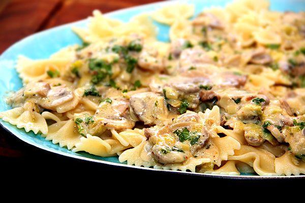 pasta_pastafjärilar_pastasås_champinjonsås_champinjonpasta_middagstips_recept_barilla