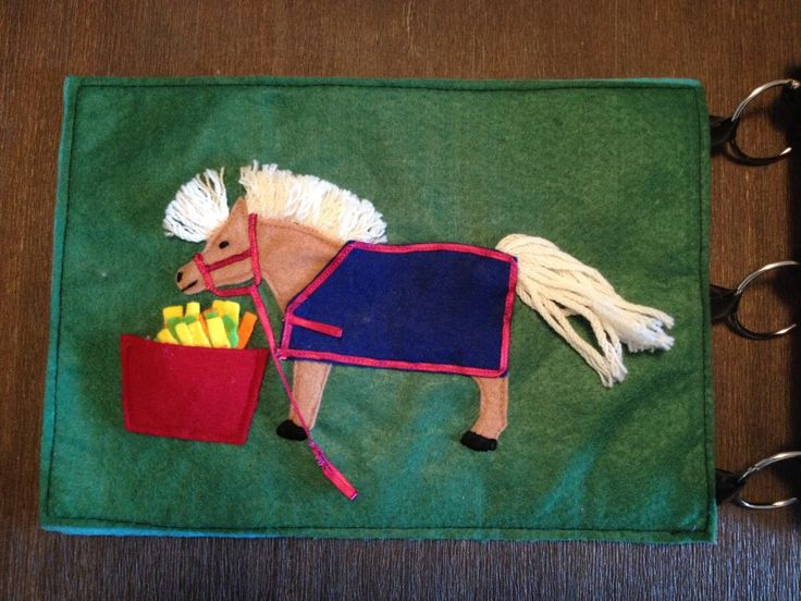 Faith and Felt Obsession: Tahlia's Quiet Book - Pony Page