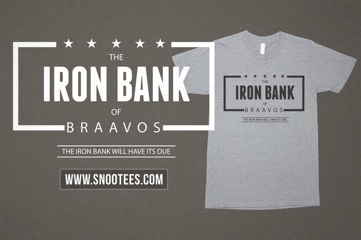 The Iron Bank of Braavos T-Shirt - Game of Thrones #GameofThrones #GoTSeason6 #Ironbank #braavos #GoT #Tee #T-Shirt #Tshirt
