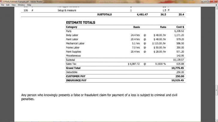 roof repair estimate example and tile roof repair estimate
