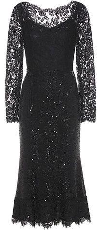 Dolce & Gabbana Robe midi en dentelle et sequins