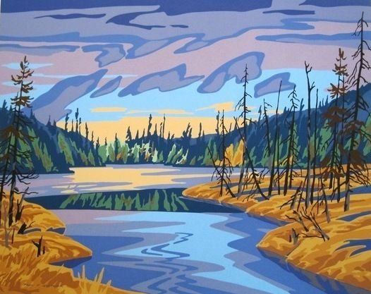 Auction item 'Buckslide Creek, limited edition signed serigraph' hosted online at 32auctions.