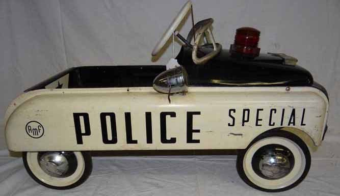 1950's Special Police Pedal Car w/Siren by AMF